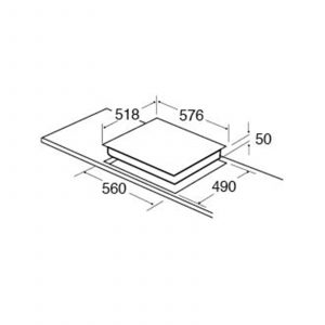 CDA HC6211FR 60CM Four Zone Black Glass Easy Clean Side Control Ceramic Hob