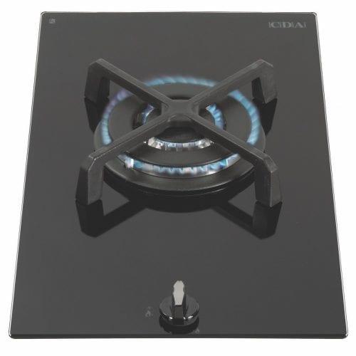 CDA HG3601 Single Burner Gas on Glass Domino Hob