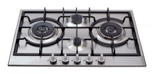 CDA HG7500SS 75cm Four Burner Gas Hob In Stainless Steel With Cast Iron Stands