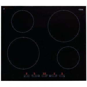 CDA HN6411FR 60cm Frameless Induction 4 Zone Black Glass Touch Control Hob