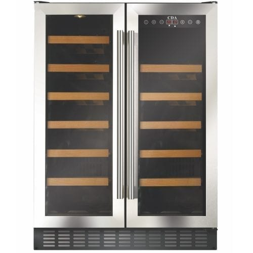 CDA FWC623SS 60cm Free Standing Under Counter Wine Cooler In St/Steel