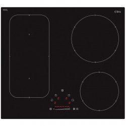 CDA HN6731FR 60cm Slider Touch Control 4 Zone Frameless Induction Black Hob