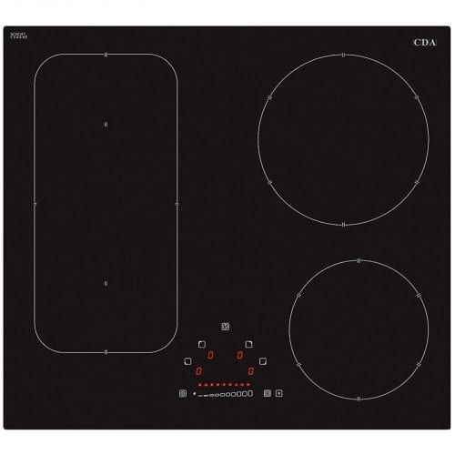 CDA HN6731FR 60cm Slider Touch Control 4 Zone Frameless Induction Black Hob