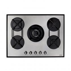 CDA HVG720SS 70cm Designer 5 Burner Gas on Glass Hob in Stainless Steel