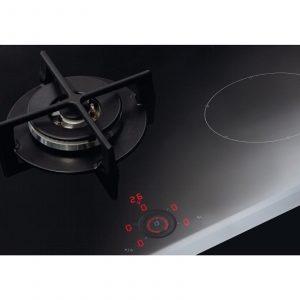 CDA HNG7410FR Black 4 Zone Induction Touch Control Hob W/ Single Gas Wok Burner