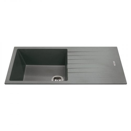 CDA KG73GR 1 Bowl Granite/Quartz Composite Reversible Graphite Kitchen Sink
