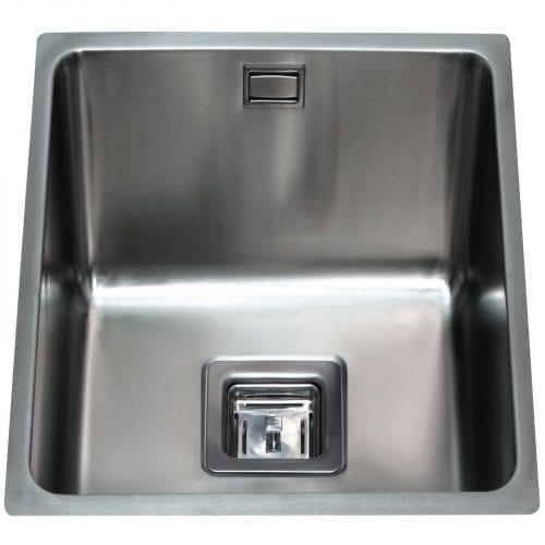 CDA KSC22 Undermount Designer 3/4 Bowl Kitchen Sink in St/Steel