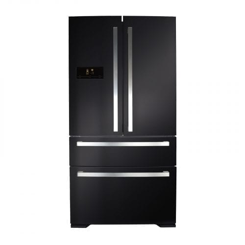 CDA PC870BL American Style Two Door Fridge With Frost Free Two Drawer Freezer