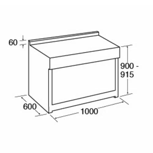 CDA RV1002 100cm Twin Cavity Range Cooker, 2 Electric Ovens & 6 Burner Gas Hob