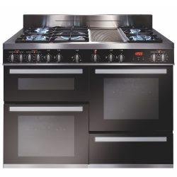 CDA RV1200SS 120cm Triple Cavity Duel Fuel Range Cooker In Stainless Steel