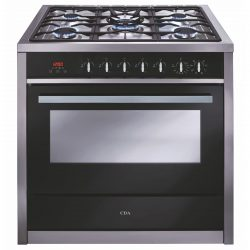 CDA RV911SS 90cm Single Cavity Range Cooker, 5 Burner Gas Hob & Electric Oven