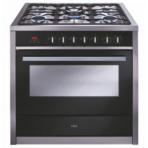 CDA RV911SS 90cm Single Cavity Range Cooker, 5 Burner Gas Hob & Electric Oven