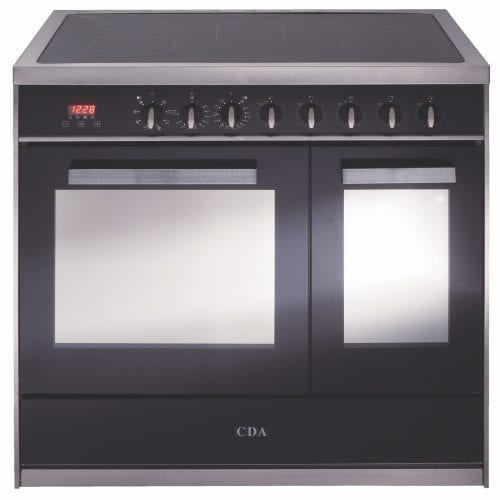 CDA RV961SS 90cm Twin Cavity Electric Range Cooker, Electric Ovens & Ceramic Hob