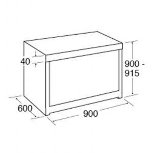 CDA RV961SS 90cm Twin Cavity Electric Range Cooker, Electric Ovens & Ceramic Hob