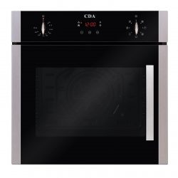 CDA SC620SS 60cm Electric Side Opening Built In Multi-Function Single Oven