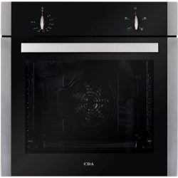 CDA SK110SS 60cm Built In 80L 4 Function Single Electric True Fan Oven