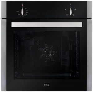 CDA SK110SS 60cm Built In 80L 4 Function Single Electric True Fan Oven