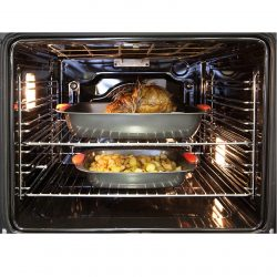 CDA SK310BL 60cm Built In 80L 7 Function Single Electric Fan Oven In Black