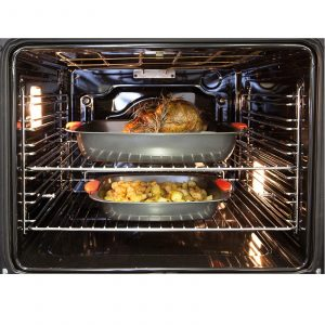CDA SK410SS 60cm Built In 80L Single Electric 10 Function True Fan Oven With LCD