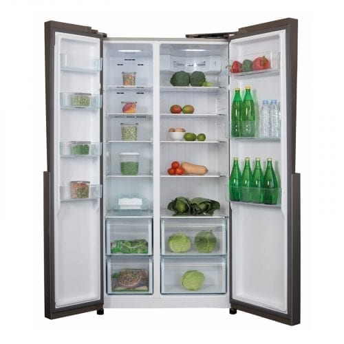 CDA PC52SC Stainless Steel American Style Frost Free Fridge Freezer A+ Rating