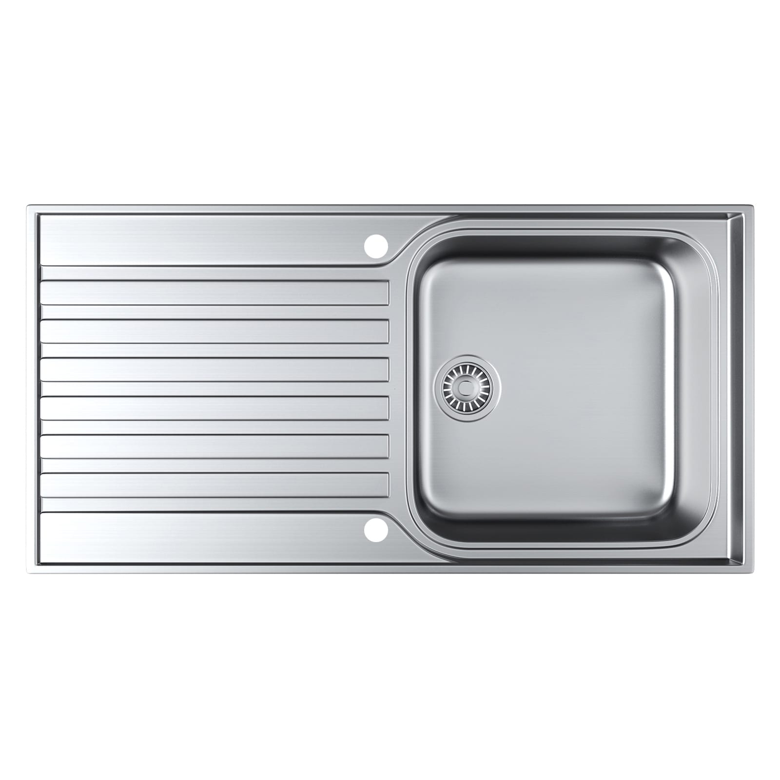 Franke ascona asx 611 100 1 0 bowl fully reversible stainless steel kitchen sink at ship it appliances