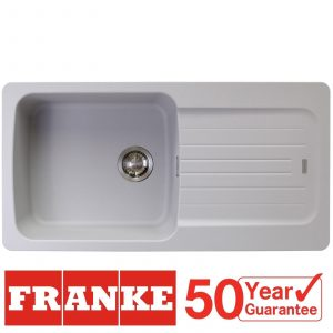 Franke Aveta 1.0 Bowl Stone Grey Tectonite Kitchen Sink & Astracast TP0800 Tap