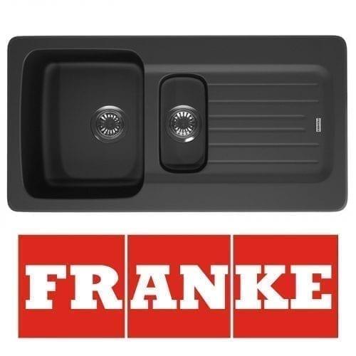 Franke Aveta 1.5 Bowl Black Kitchen Sink & Clearwater Creta Chrome Mixer Tap