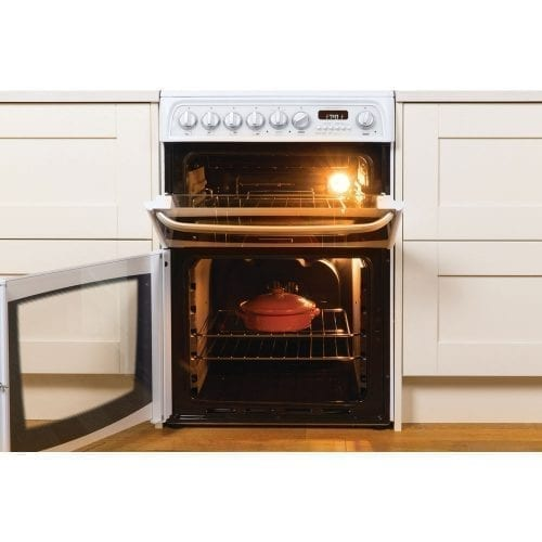 Hotpoint Cannon CH60GCIW Freestanding Double Gas Cooker Oven In White  A+ Rated