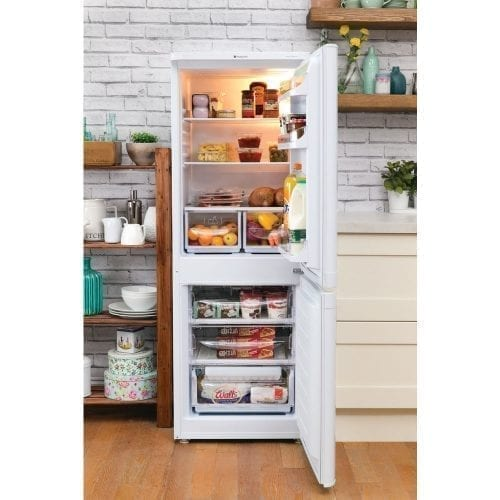 Hotpoint NRFAA50P Ice Diamond Freestanding Fridge Freezer Polar White A+ Rating