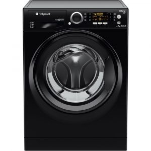 Hotpoint RPD9467JKK Ultima S-Line Freestanding Washing Machine In Black