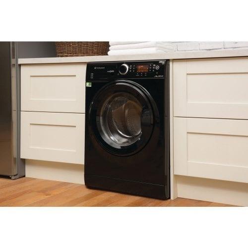 Hotpoint RPD9467JKK Ultima S-Line Freestanding Washing Machine In Black