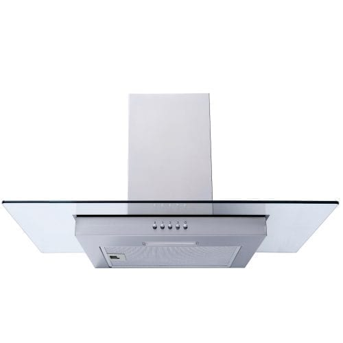 SIA FG71SS 70cm Flat Glass Stainless Steel Chimney Cooker Hood Extractor Fan