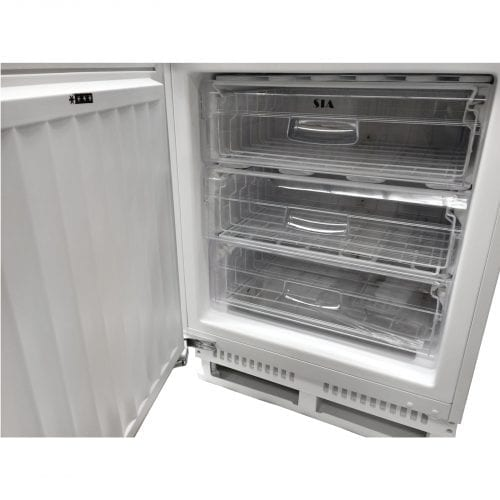 SIA Integrated Under counter Larder Fridge & Freezer Twin Pack A+