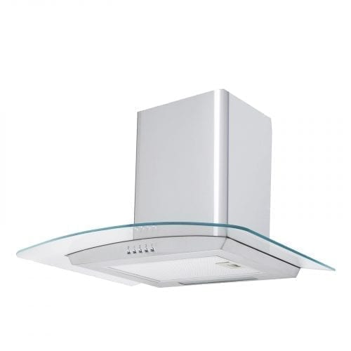 SIA CG71SS  70cm Stainless Steel Curved Glass Cooker Hood Extractor Fan