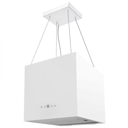 SIA IEX40WH 40cm White Designer Lantern Island Cooker Hood Extractor Fan