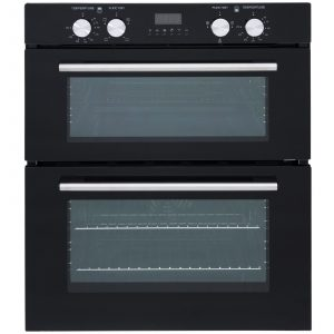 SIA 60cm Built Under Double Oven, Stainless Steel 4 Burner Hob And Cooker Hood