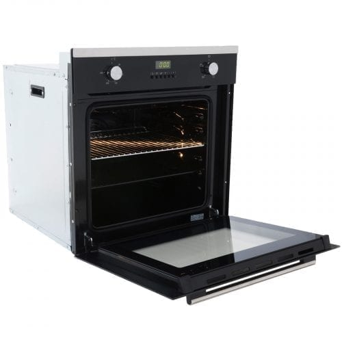 SIA SO102 60cm Single Electric Fan Oven & 4 Burner Stainless Steel Gas Hob