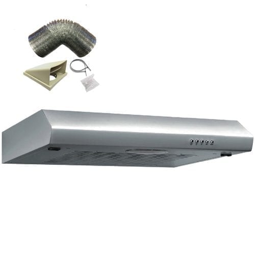 SIA ST60SS 60cm Visor Stainless Steel Cooker Hood Kitchen Extractor + 3m Ducting