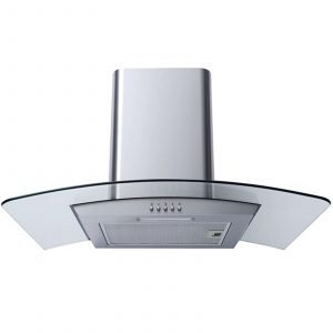 SIA 60cm Single True Fan Oven, 4 Burner Gas Hob & Curved Glass Cooker Hood