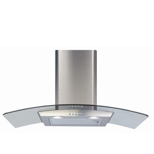 CDA ECP82SS 80cm Curved Glass Cooker Hood Extractor in Stainless Steel