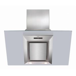 CDA EVG9 90cm Touch Control Angled Cooker Hood Extractor In Stainless Steel