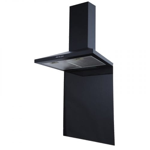 SIA SP70BL 70cm x 75cm Black Toughened Glass Kitchen Splashback