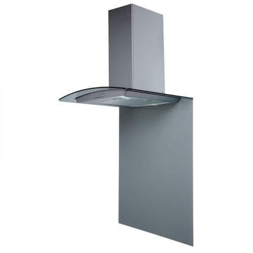 SIA SPC60GY 60cm x 75cm Grey Toughened Curved Glass Kitchen Splashback