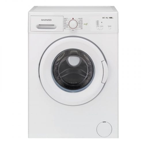 Daewoo DWDMV1011 1000RPM 6Kg Free Standing White Washing Machine | A++ Rated
