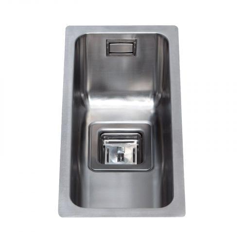 CDA KSC21 Undermount Designer Half Bowl Kitchen Sink in St/Steel