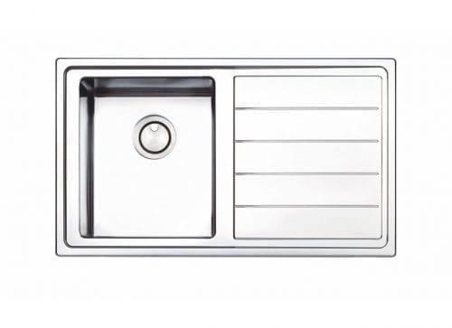 Clearwater Linear Plus 1.0 Bowl Stainless Steel Kitchen Sink with Brushed Finish