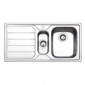 Clearwater Linear 1.5 Bowl Sleek Brushed Stainless Steel Kitchen Sink
