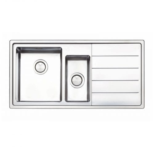 Clearwater LIP150R Linear Plus 1.5 Bowl Brushed Stainless Steel Kitchen Sink