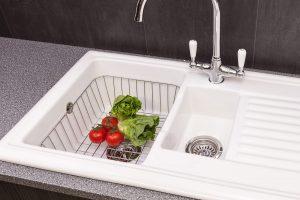 Reginox RL301CW 1.5 Bowl White Ceramic Reversible Inset Kitchen Sink & Waste Kit