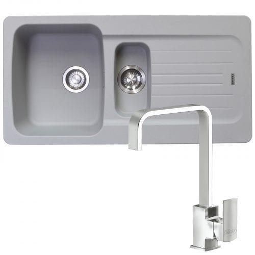 Franke Aveta 1.5 Bowl Stone Grey Tectonite Kitchen Sink & Reginox Astoria Tap